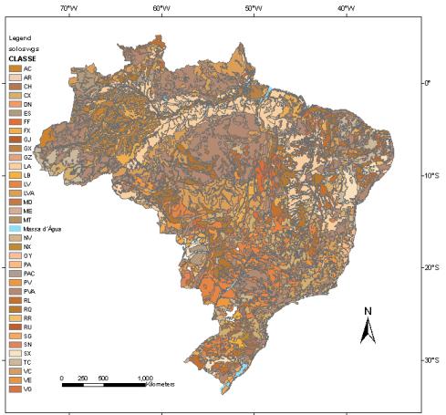 Mapa Solos Brasil