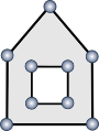 Pictorial Representation of a Polygon with an outer boundary and one hole